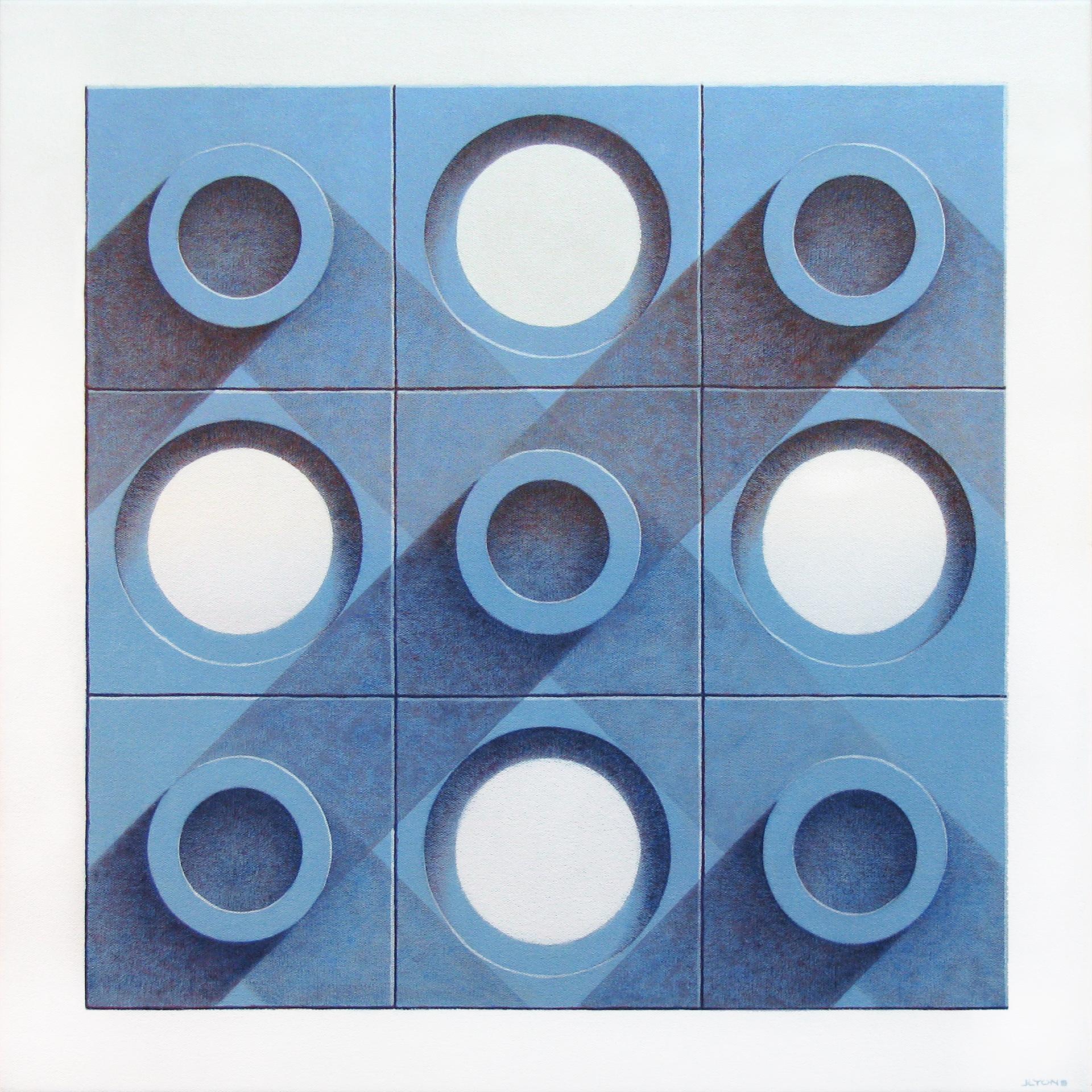 """Blue Tiles 1 24"""" x 24"""" Acrylic on canvas"""