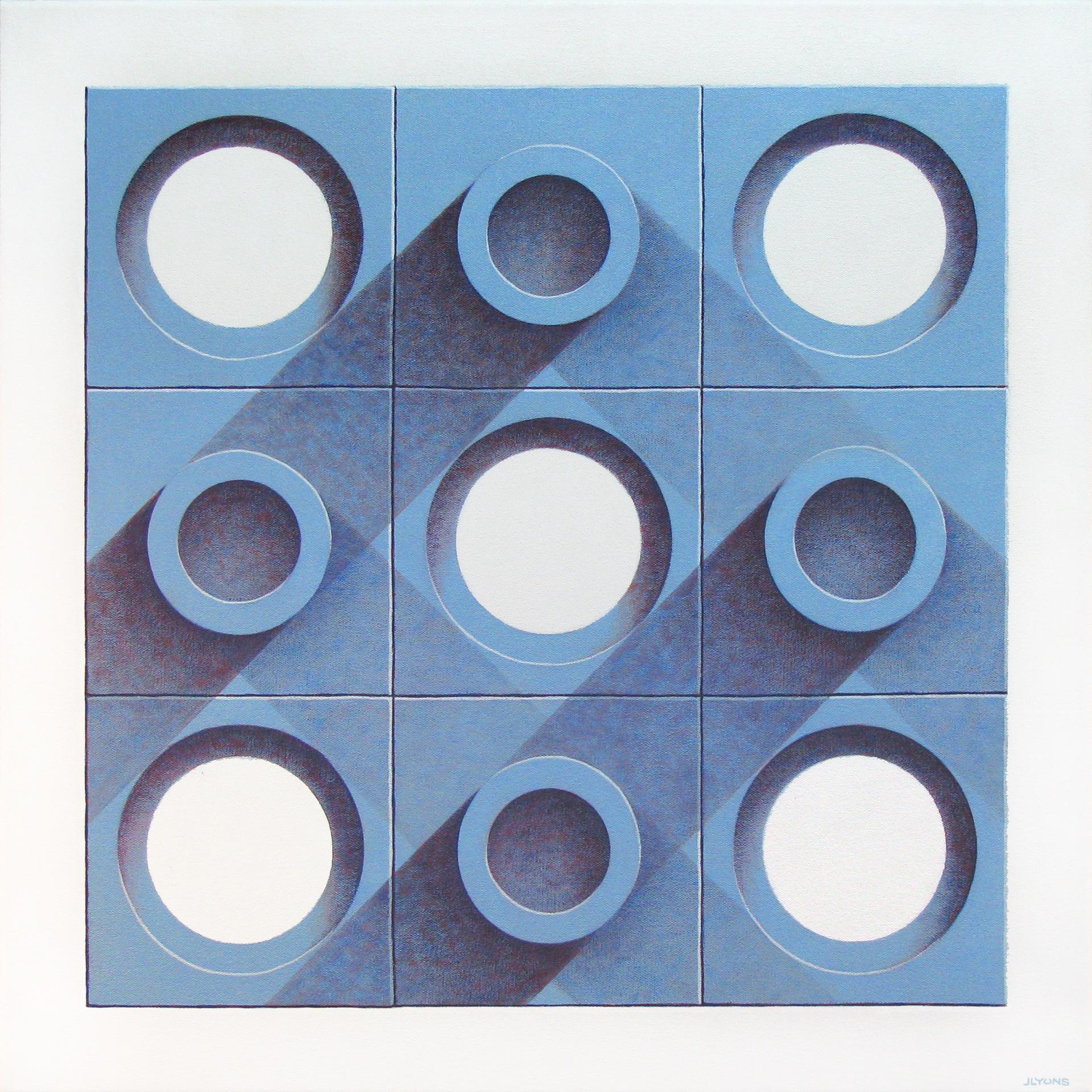 """Blue Tiles 2 24"""" x 24"""" Acrylic on canvas"""