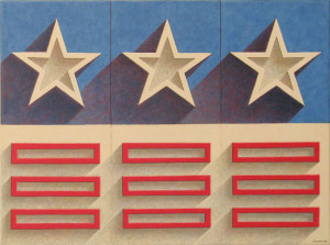 "Patriot Shadows     18"" x 24""     Acrylic on canvas"